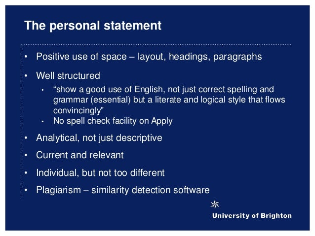 Writing an appropriate personal statement: Penny Edwards