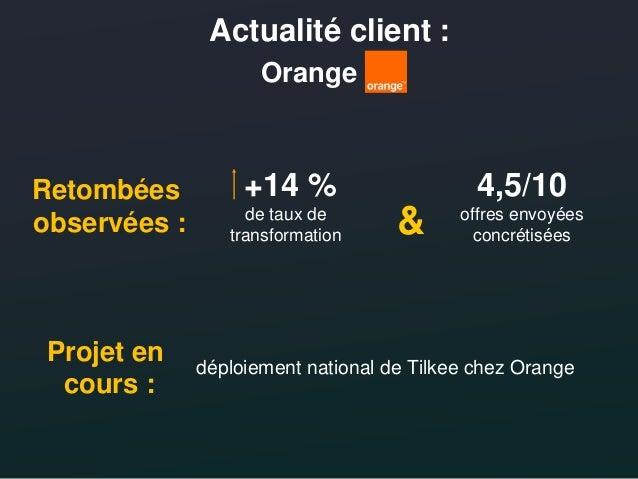 Conférence de presse Tilkee/Orange