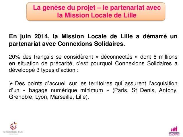 Connect emploi - Mission locale de Lille Slide 2