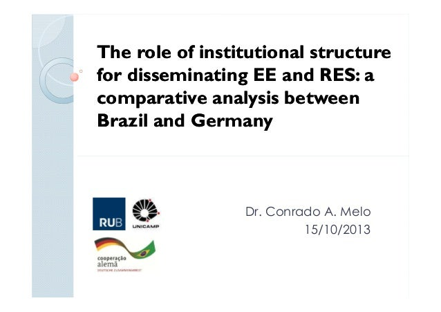 The role of institutional structure for disseminating EE and RES: a comparative analysis between Brazil and Germany  Dr. C...