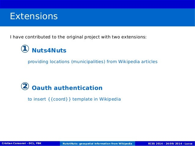 Extensions  I have contributed to the original project with two extensions:  ① Nuts4Nuts  providing locations (municipalit...