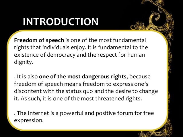 article on freedom of speech and expression