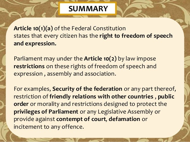 Article Review Freedom Of Speech And The Internet