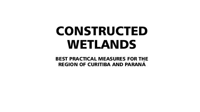 CONSTRUCTED WETLANDS BEST PRACTICAL MEASURES FOR THE REGION OF CURITIBA AND PARANÁ