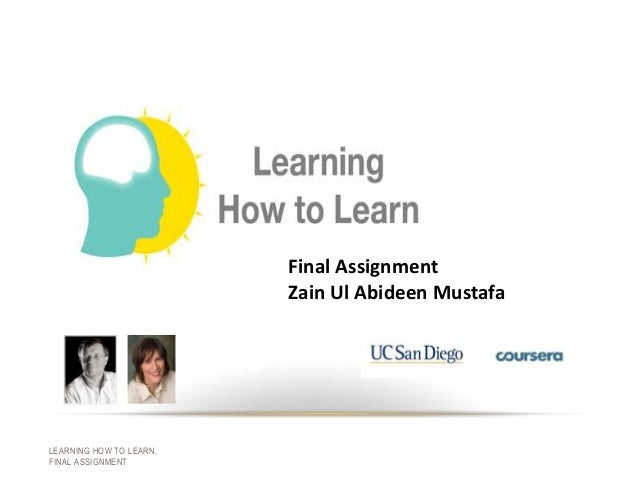 Final Assignment, Learning How to Learn, Coursera