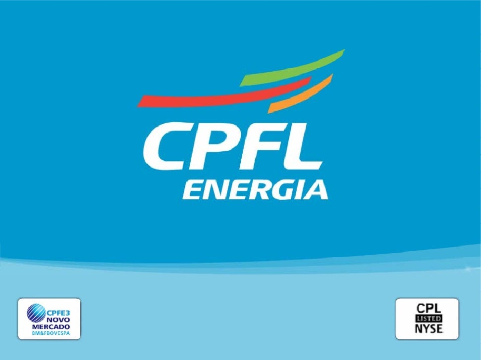 Summary    Energy market overview    CPFL Energia – Highlights and Results2