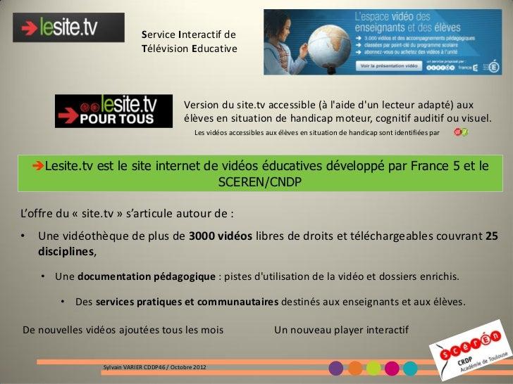 Service Interactif de                              Télévision Educative                                             Versio...