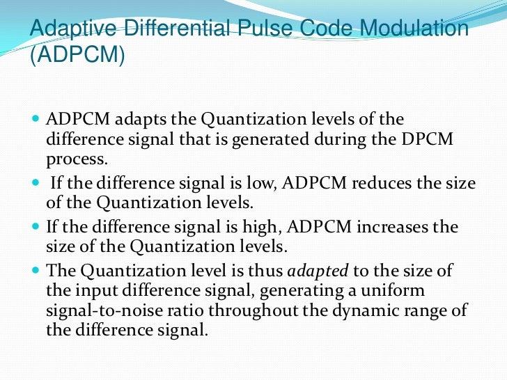 Adaptive Dpcm Ppt Presentation