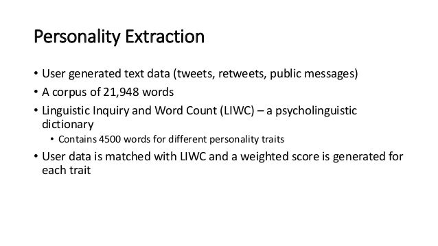 the impact of user personality traits on word of mouth text mining s