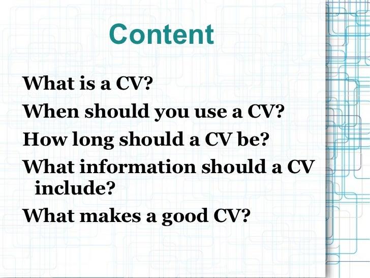 Presentation cv Slide 2