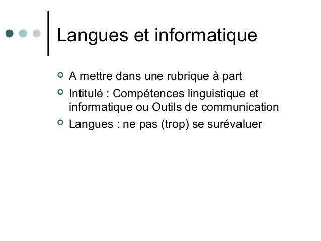presentation cv