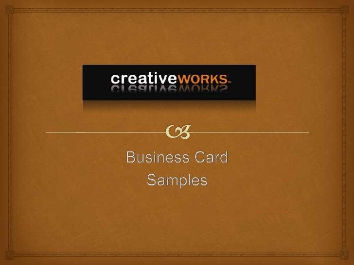 Business Card<br />Samples<br />