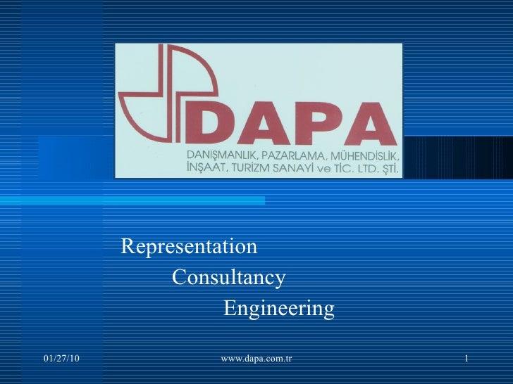 Representation Consultancy Engineering