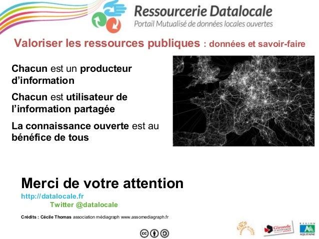 Valoriser les ressources publiques : données et savoir-faire Chacun est un producteur d'information Chacun est utilisateur...