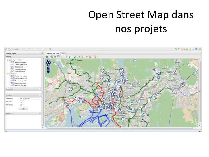 Open Street Map dans    nos projets