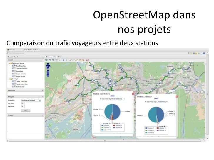 OpenStreetMap dans                                 nos projetsComparaison du trafic voyageurs entre deux stations
