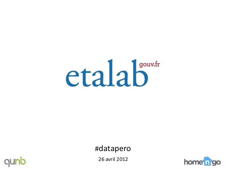 #datapero26 avril 2012