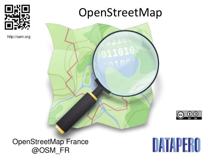 OpenStreetMaphttp://osm.org   OpenStreetMap France       @OSM_FR