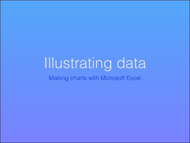 Illustrating data Making charts with Microsoft Excel