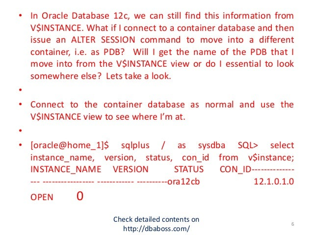 Presentation day5 oracle12c
