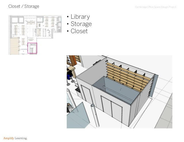 Cambridge Office Space Design Project Amplify Learning. Closet / Storage • Library • Storage • Closet