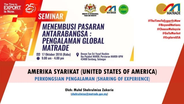 Malaysia-USA Bilateral Trade Potential product and services SOURCE: Department of Statistics, Malaysia. Compiled by MATRAD...