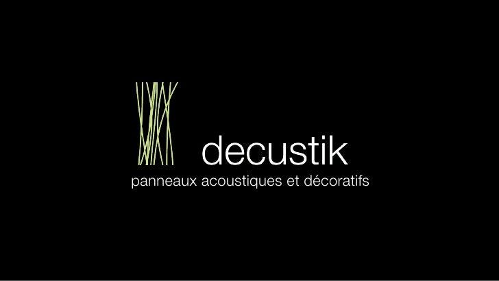 panneaux acoustiques et décoratifs