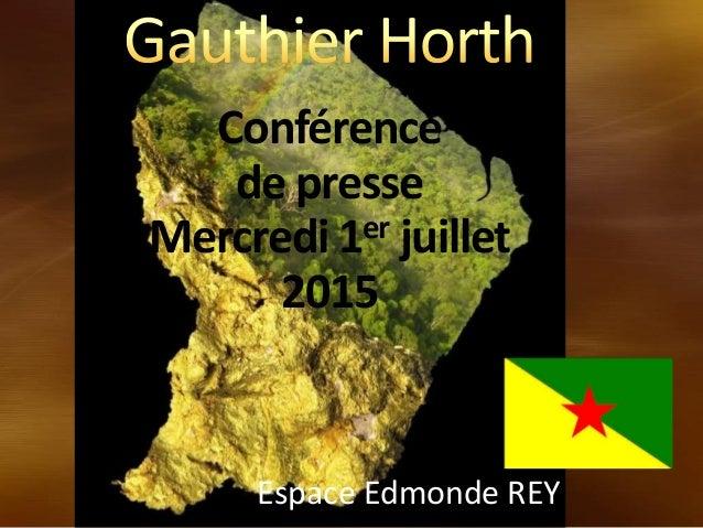 Conférence de presse Mercredi 1er juillet 2015 Espace Edmonde REY