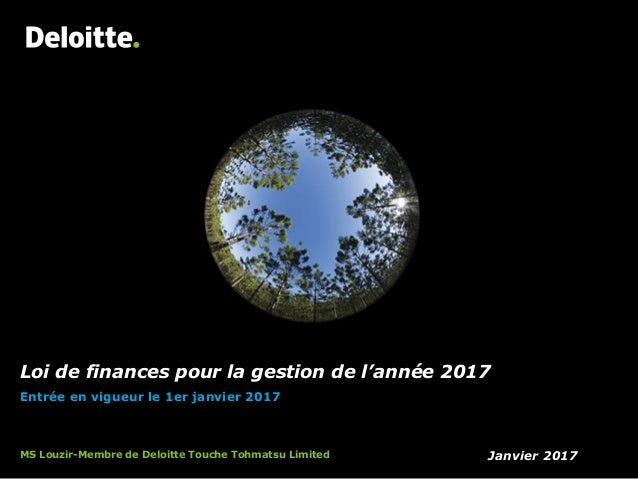 pr sentation de la loi de finance 2017 deloitte. Black Bedroom Furniture Sets. Home Design Ideas