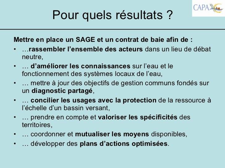 Presentation Demarche Sage Lors Du Rendez Vous De L Eau Le