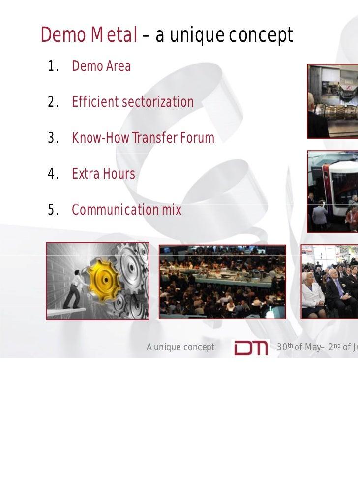 Presentation Demo Metal 2012 (english) Slide 2