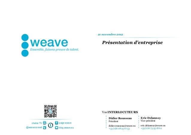 21 novembre 2012                                  Présentation d'entreprise                                  Vos INTERLOCU...