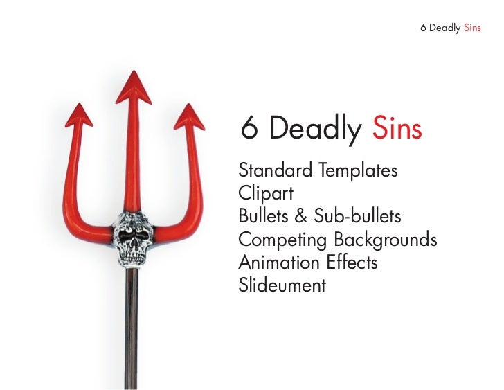 Deadly Sin 2     Clipart, Stock Image & Wordart Just hurts If the thought of using cheesy generic stock images, clipart, w...