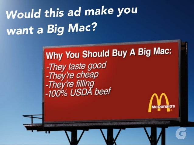 Would this ad make you want a Big Mac?