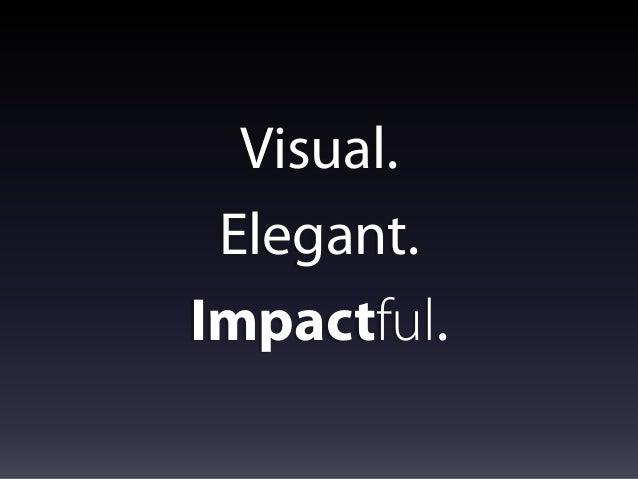 Visual. Elegant. Impactful.