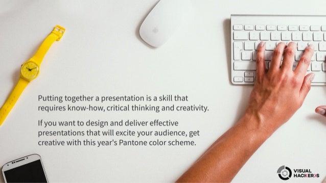 Presentation Design Tips - Pantone Best Colors To Use In 2017 Slide 2