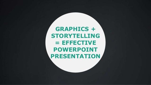 GRAPHICS + STORYTELLING = EFFECTIVE POWERPOINT PRESENTATION