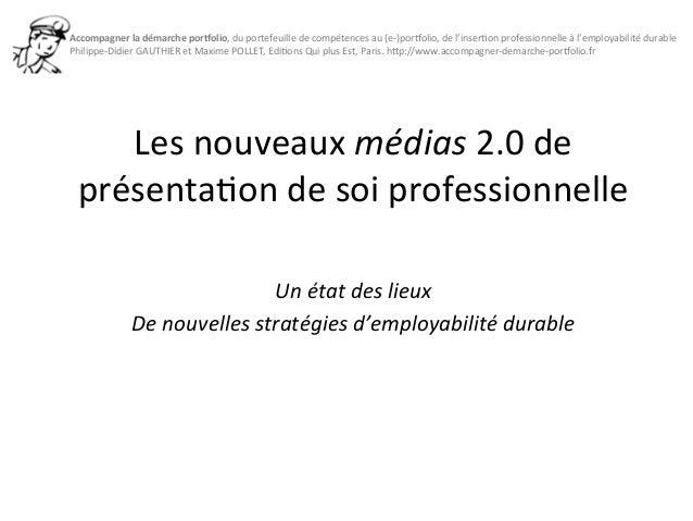 Accompagner  la  démarche  por0olio,  du  portefeuille  de  compétences  au  (e-‐)por=olio,  de  l'inser3on  professionne...