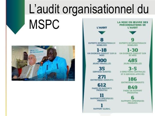 L'audit organisationnel du MSPC