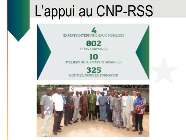 L'appui au CNP-RSS