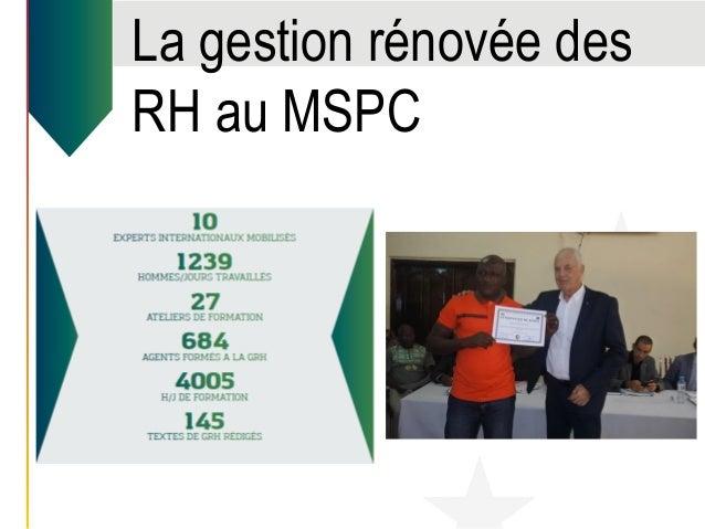 La gestion rénovée des RH au MSPC