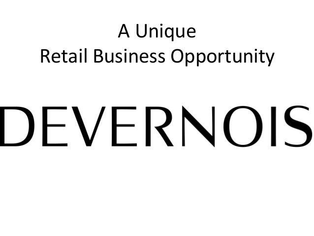 A  Unique     Retail  Business  Opportunity