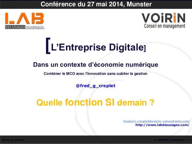 © VOIRIN Consultants | 1@fred_g_creplet frederic.creplet@voirin-consultants.com http://www.labdesusages.com/ Conférence du...