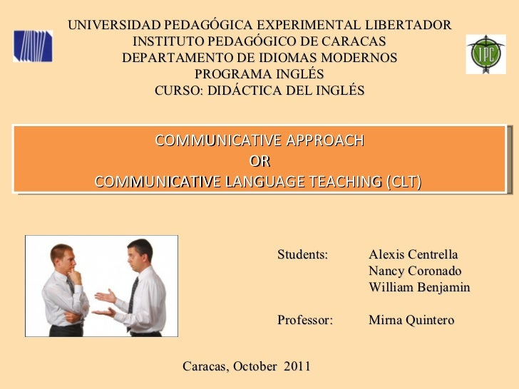 UNIVERSIDAD PEDAGÓGICA EXPERIMENTAL LIBERTADOR INSTITUTO PEDAGÓGICO DE CARACAS DEPARTAMENTO DE IDIOMAS MODERNOS PROGRAMA I...