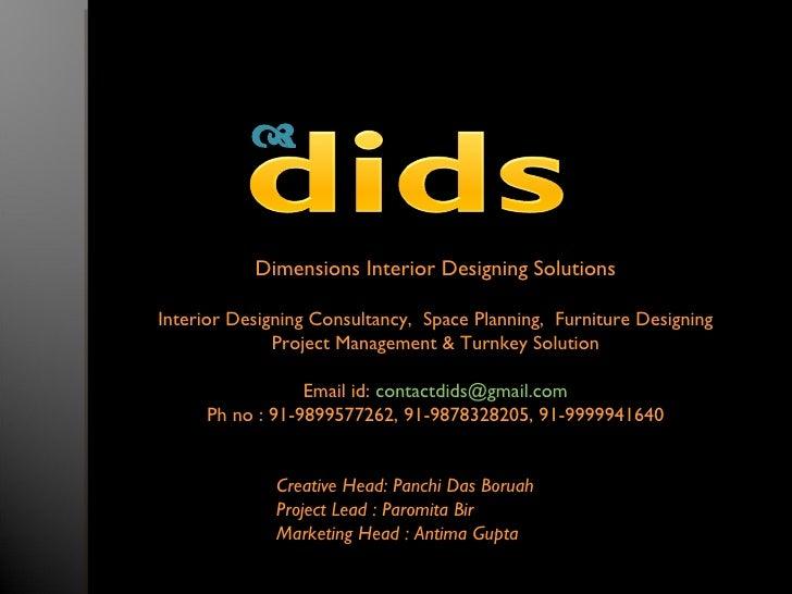              Dimensions Interior Designing Solutions  Interior Designing Consultancy, Space Planning, Furniture Designing...