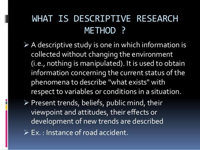 descriptive research pdf