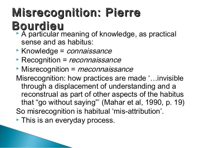 discuss bourdieus concept of habitus essay Pierre bourdieu was a french sociologist who was highly praised throughout the 20th century for pioneering four main concepts we each have our own sense of habitus to distinguish ourselves through habits yet, they can be either acceptable or not acceptable.
