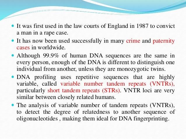 an analysis of dna fingerprinting also referred to as dna profiling and dna typing Kipediaorg/wiki/dna_fingerprinting fromwikipedia,thefreeencyclopedia (redirectedfromdnafingerprinting) fordnatestingforinheriteddiseases,see.