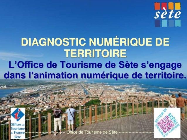 DIAGNOSTIC NUMÉRIQUE DE TERRITOIRE L'Office de Tourisme de Sète s'engage dans l'animation numérique de territoire.  ------...