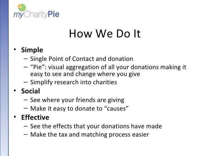 myCharityPie - Launch48 Sunday evening presentation Slide 3